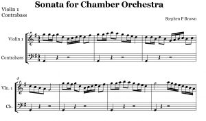 Exceprt of Sonata for chamber orchestra by Stephen P Brown