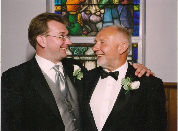 Me and my Dad on my wedding day in NJ