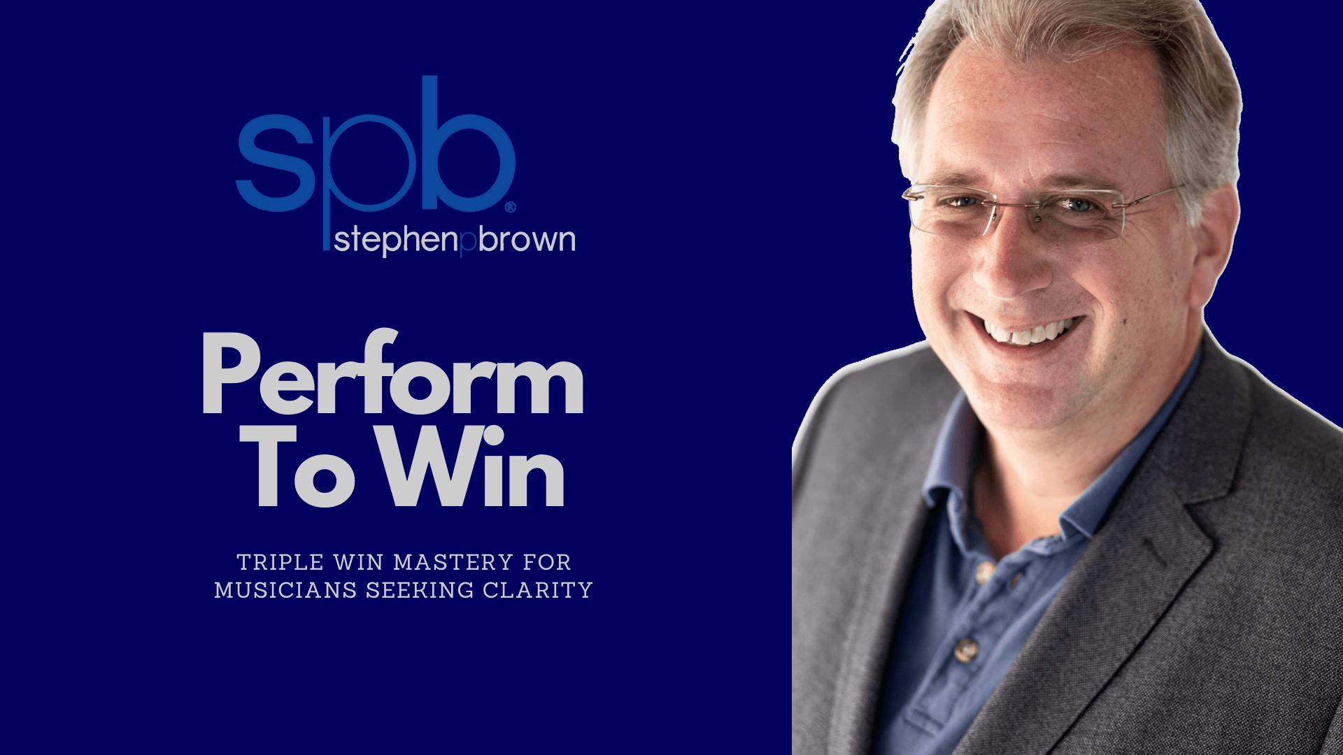 Maestro Stephen P Brown Repertoire Workshops